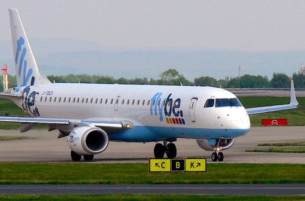 Airport police were called by the Flybe crew (Stock picture)