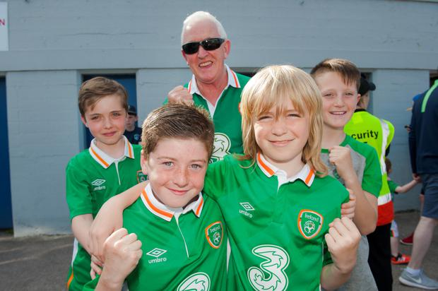 Denis Lyne, Ronan Lyne, Sean Twomey, Timmy O'Reilly, and Max O'Reilly at the match (Picture: Daragh Mc Sweeney/Provision)