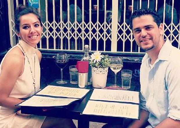 Malak Kuzbary Thawley, a teacher from Syria, with her American husband Alan