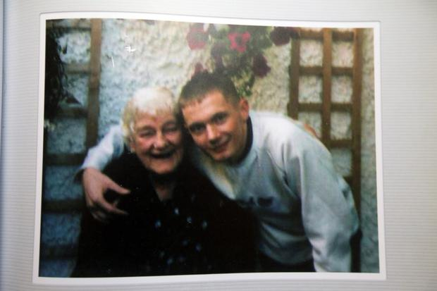 Keith Fitzsimons pictured with his grandmother Margaret
