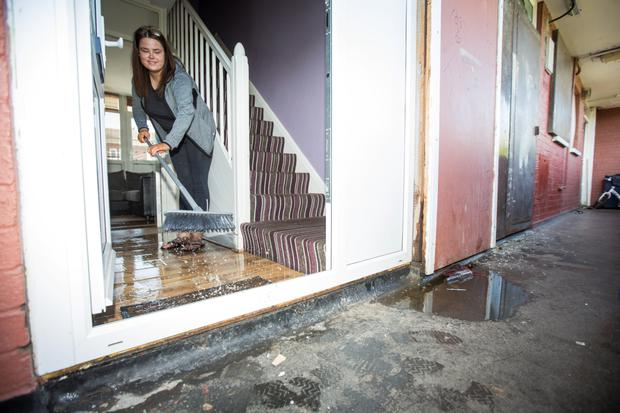 Jessica Lennon and her flooded flat in Basin Street
