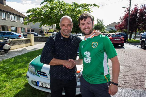 Ireland v Sweden, David Murphy, Perrystown with guest Paul McGrath.