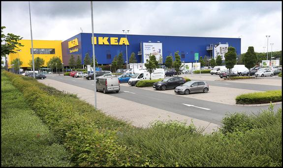Ikea in Ballymun, where the carjack bid happened Picture: Steve Humphreys