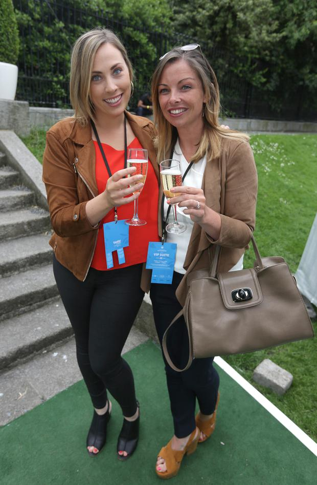 Jenny Fallon, left and Laura Gallen from Rathfarnham