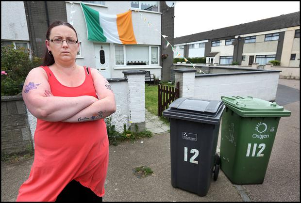 Miranda Lumsden from Ballymun who is concerned about weight payment on her bins