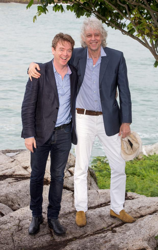 David McWilliams and Bob Geldof at The Dalkey Book Festival