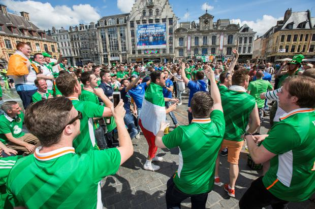 Irish fans in Lille