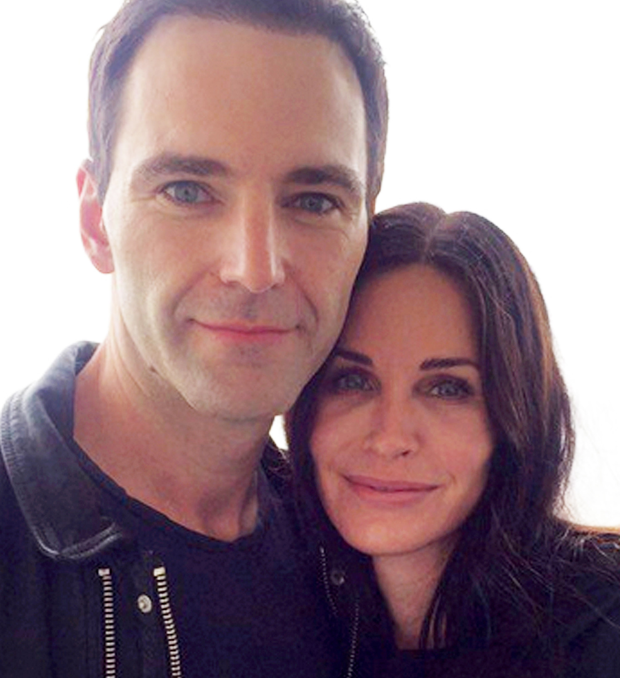 Johnny McDaid and Courteney Cox in Ireland