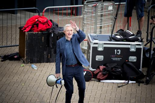 Louis Walsh arriving at the Irish auditions of the X Factor in Croke Park.