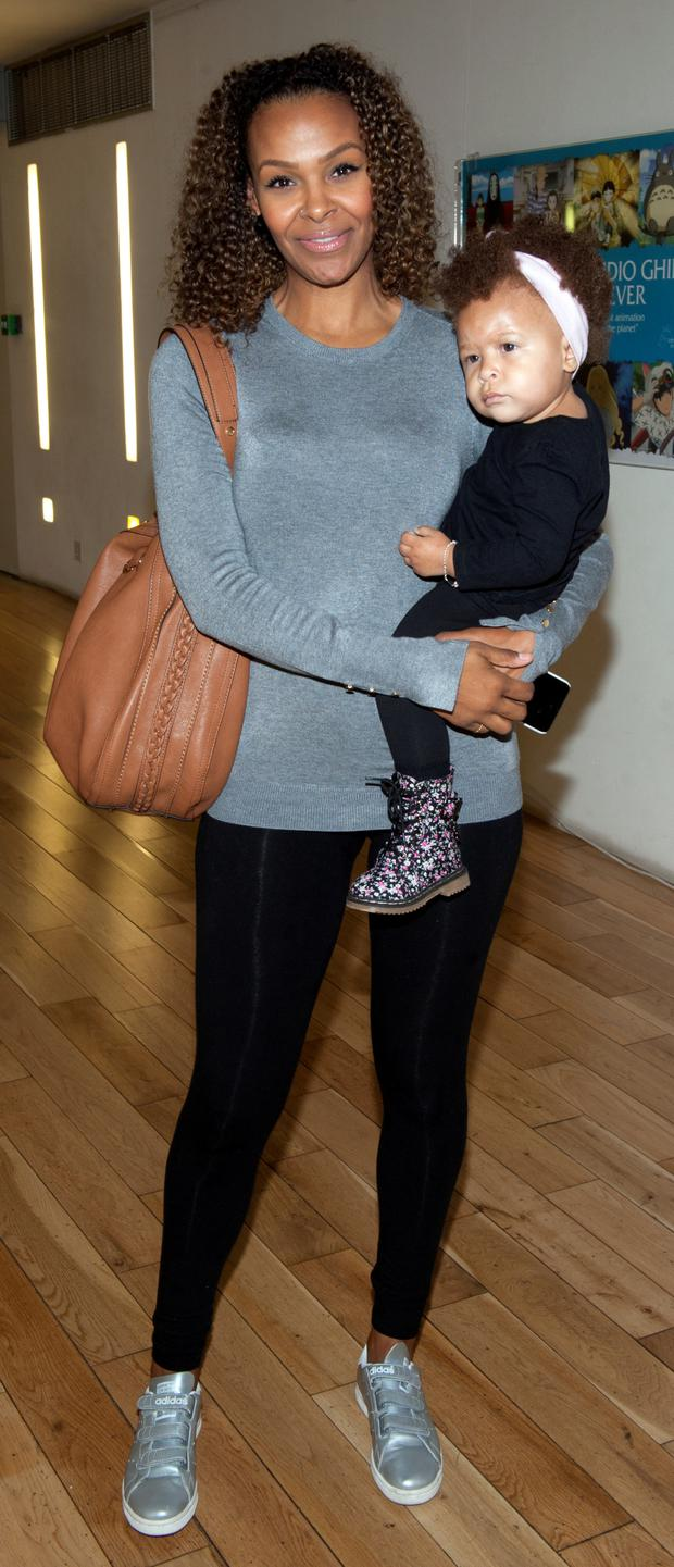 Samantha Mumba and Sage Scales pictured at the launch of WaterWipes Pure Love film
