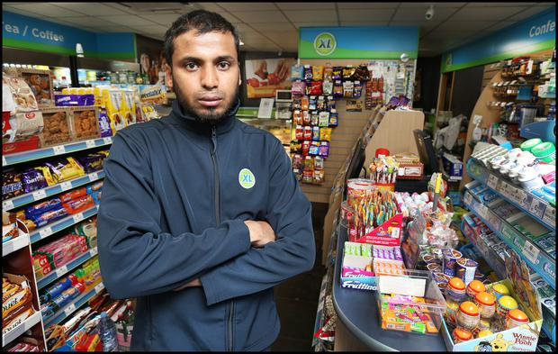 Salem Habeeb, whose shop is an almost daily target for thieves Picture: Steve Humphreys