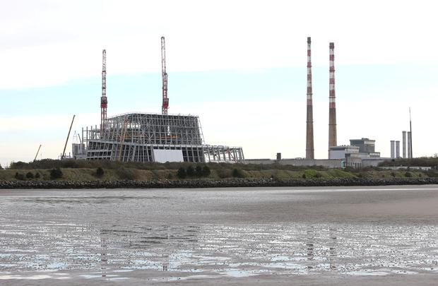 The WTE facility currently under construction at Poolbeg Picture: Damien Eagers