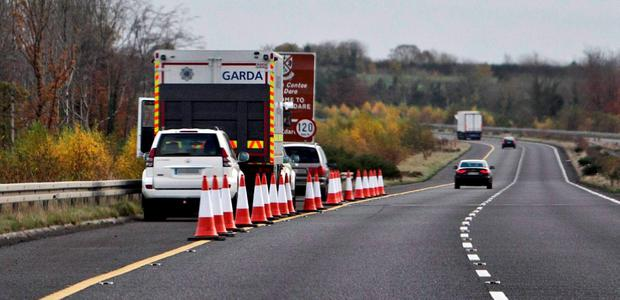 The scene on the M7 at the time of the seizure in February
