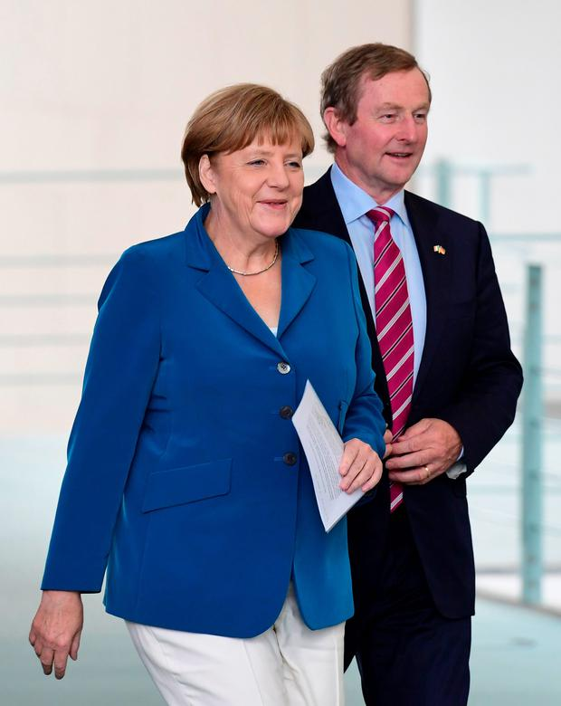 Angela Merkel and Enda Kenny. Photo: AFP/Getty