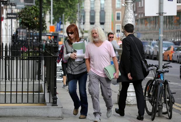 Independent deputies Clare Daly and Mick Wallace at Leinster House yesterday
