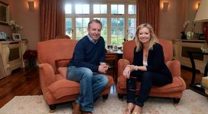 Paul Williams with Cathy Kelly at her home near Enniskerry, Wicklow