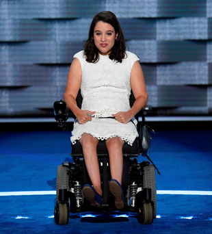 Anastasia Somoza speaks during Day 1 of the Democratic National Convention. Photo: AFP/Getty