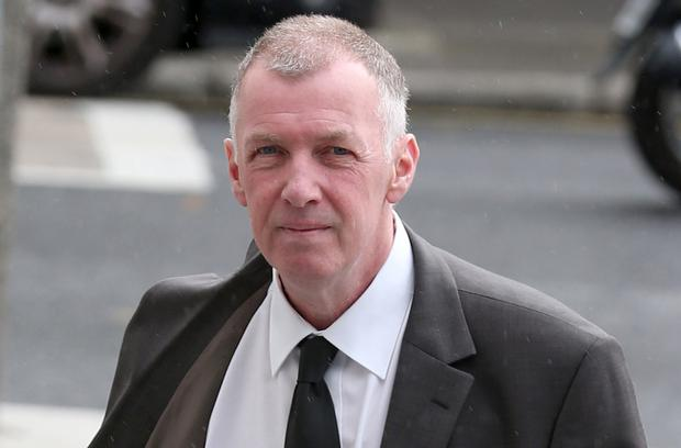 Thomas Byrne arrives at the Dublin District Court Picture: Collins