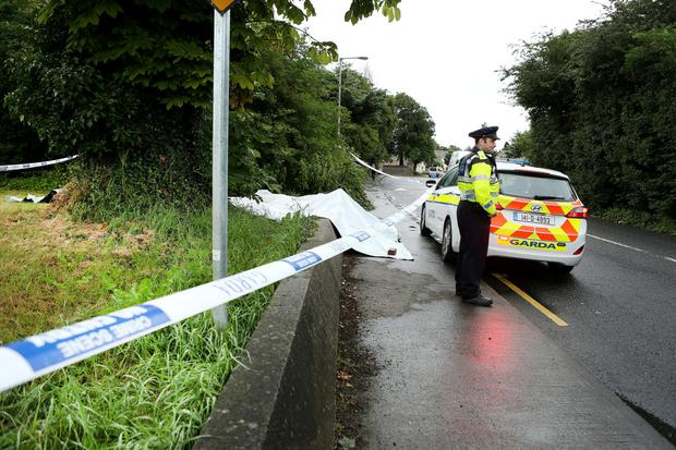 The scene on the Ninth Lock road, Clondalkin, where an alleged sex attack on a woman took place. Photo: Gerry Mooney