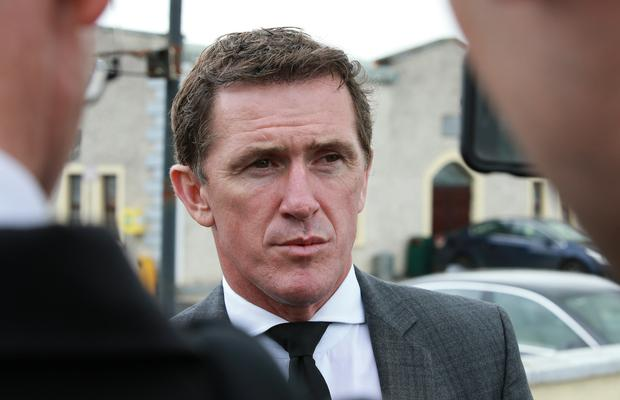 Jockey AP McCoy pictured after funeral mass for jockey JT McNamara at St Michaels Church in Manister, near Croom, Co Limerick.