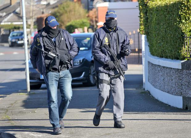 Armed gardai stormed the pub in the north inner city