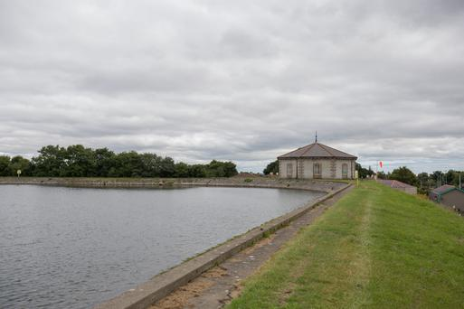 Stillorgan Reservoir with its octagonal Screen House where the treated water can be further filtered