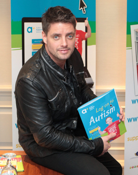Keith Duffy helped launch Ireland's first onestop website for autism information. Photo: Gareth Chaney Collins
