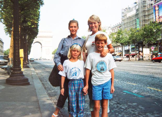 Joyce Quinn, on a family holiday to Paris with her children Nicole, Lisa and David.