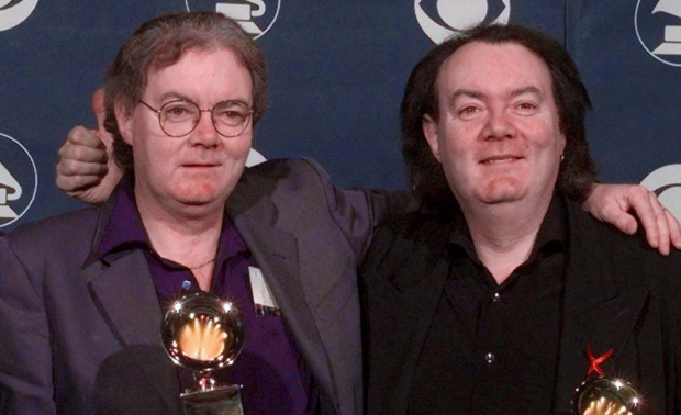 Clannad members Padraig Duggan (left) and his brother Noel with their Grammy Award Picture: AP