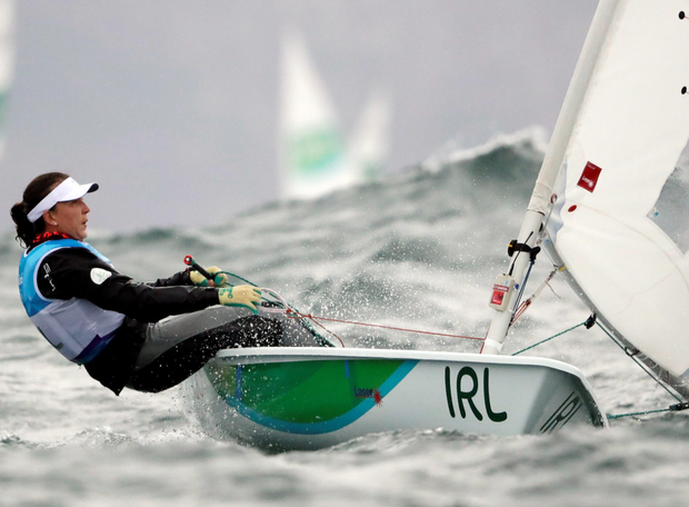 Sailor Annalise Murphy competes during the Laser Radial event.
