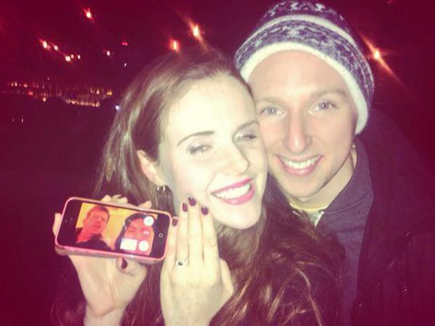 Susan and David when they got engaged in New YOrk