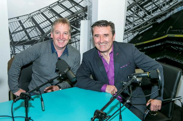 Paul Williams with TV3 presenter Martin King in the Independent.ie studios