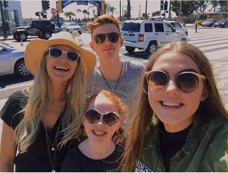 Yvonne Connolly with Missy, Ali and Jack Keating. Photo: Instagram
