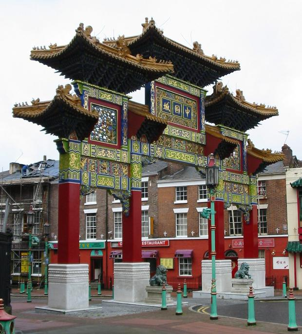 The Chinatown arch in Liverpool – there are calls for a similar one to be built here