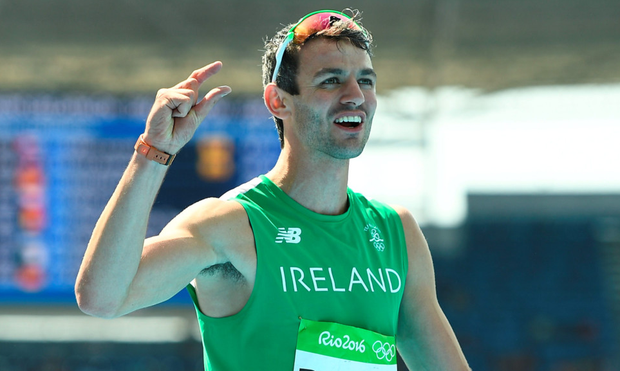 Thomas Barr acknowledges the Irish fans cheering him on in Rio Picture: Sportsfile