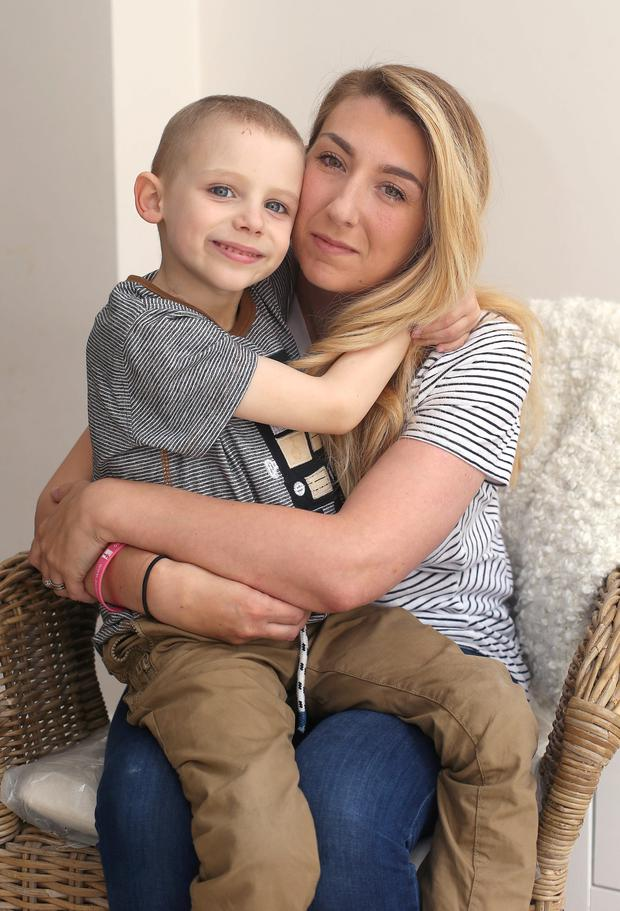 Tragic Ben Farrell with his mother Valerie Picture: Damien Eagers