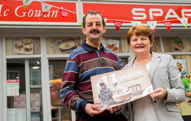 Owners of the Spar in Kinlough, Noel and Martina McGowan