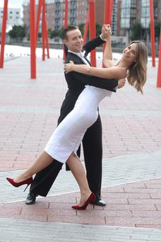 Vogue Williams with ballroom dancer John Edward Nolan Picture: Justin Farrelly