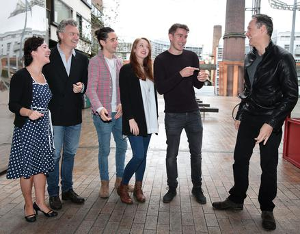 Stars Melanie MacHugh, Anthony Brophy, Darragh O'Toole, Roisin O'Donovan and Chris Newman with Sean Mahon at The Lighthouse Cinema