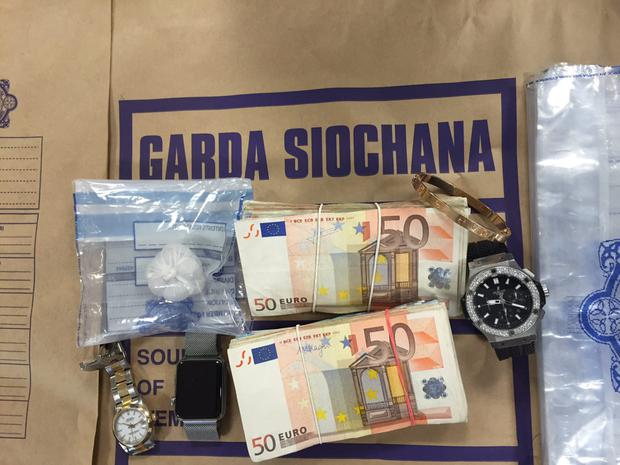 Cash, watches and drugs seized during raids in the south inner city