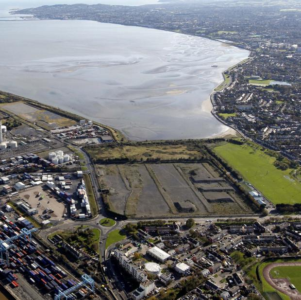 The former Irish Glass Bottle Company site is zoned to be developed