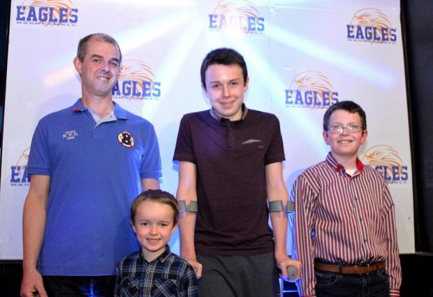 Alan Hawe and sons – Ryan (6), Liam (13) and Niall (11) – will be buried together Picture: The Printed Gift