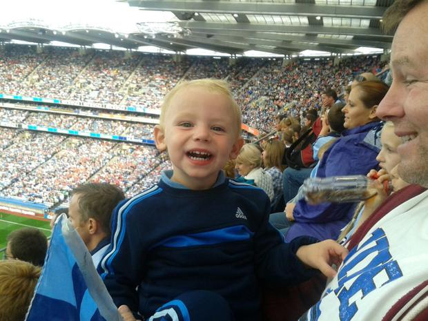 Ben at his first Dublin match