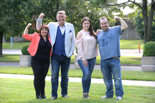 Brenda Donohue, Gerald Kean, Elaine Crowley and Karl Spain pictured ahead of Celebrity Operation Transformation which airs on RTE 1 on Wednesday 07 September at 9.35pm.