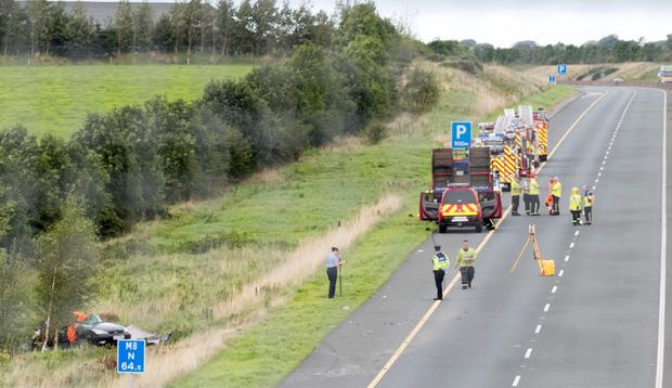The scene of the crash in which Nicola Kenny was killed only one day after giving birth