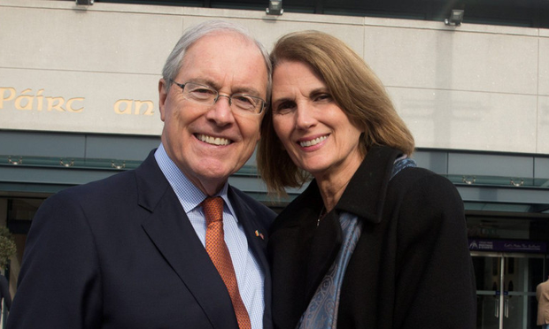 Ambassador Kevin O'Malley and his wife, Dena Picture: Arthur Carron