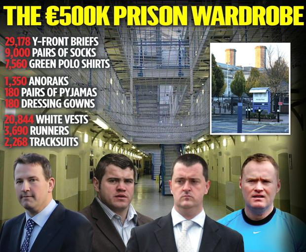 Notorious criminals, like Graham Dwyer, Brian Rattigan, Joe O'Reilly and Wayne Dundon will be entitled to free prison clothing