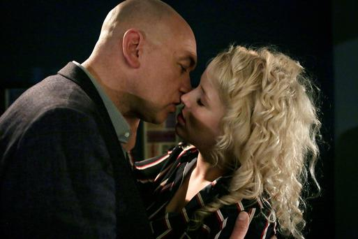 Paul and Hayley kiss on Fair City