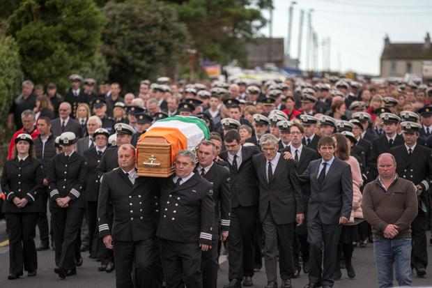 The funeral procession of Caitríona Lucas