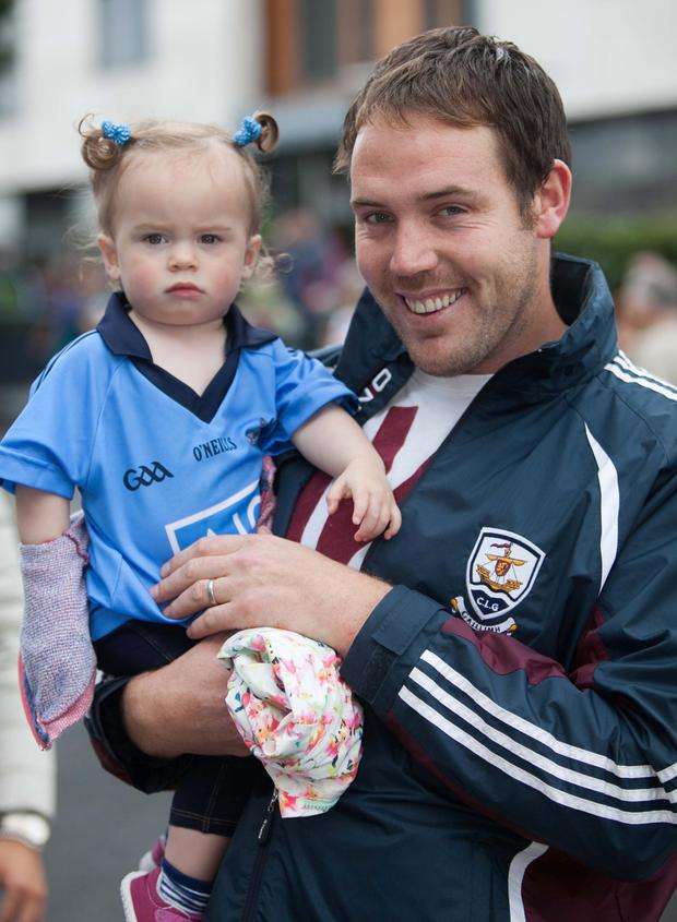 Dublin fans Caithriona and Padraic Flaherty Photo: Gareth Chaney Collins